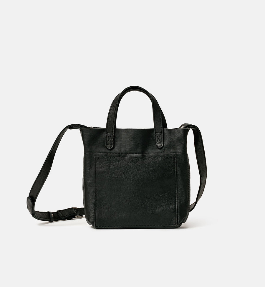 Cadine Mini black genuine leather bag