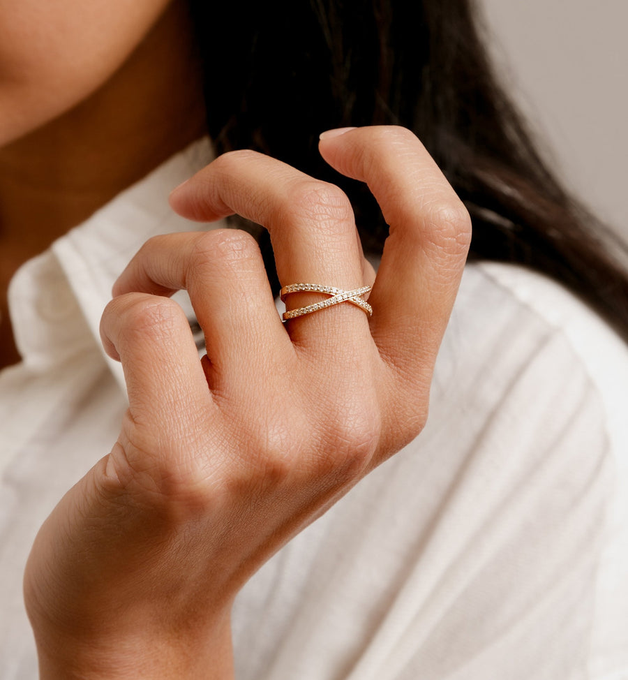 Clematis Ring - 14kt Solid Gold