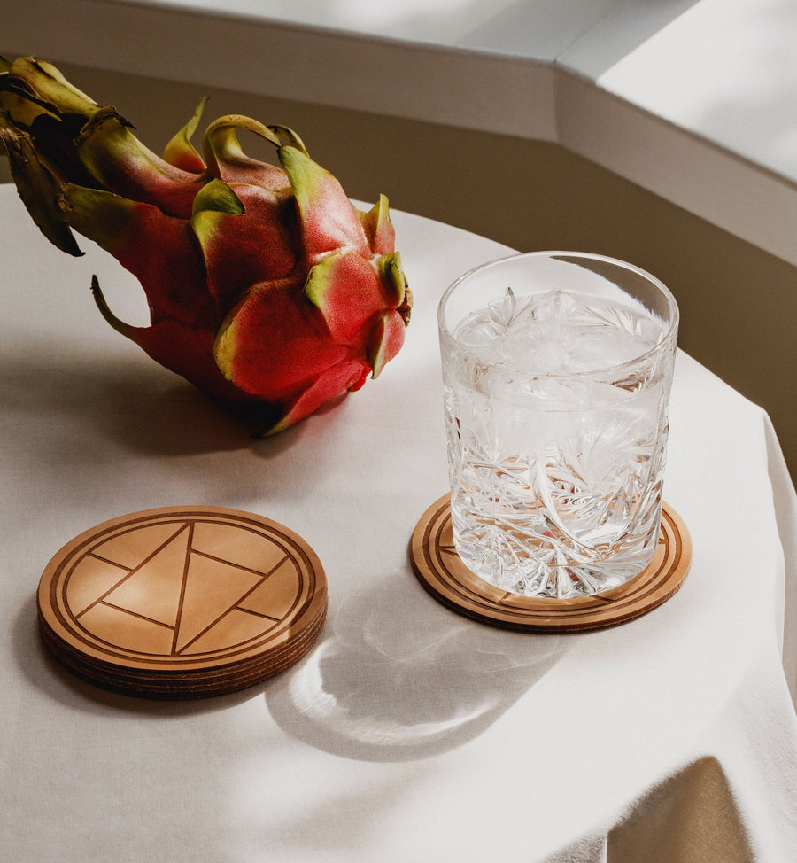 Cadine genuine leather coasters
