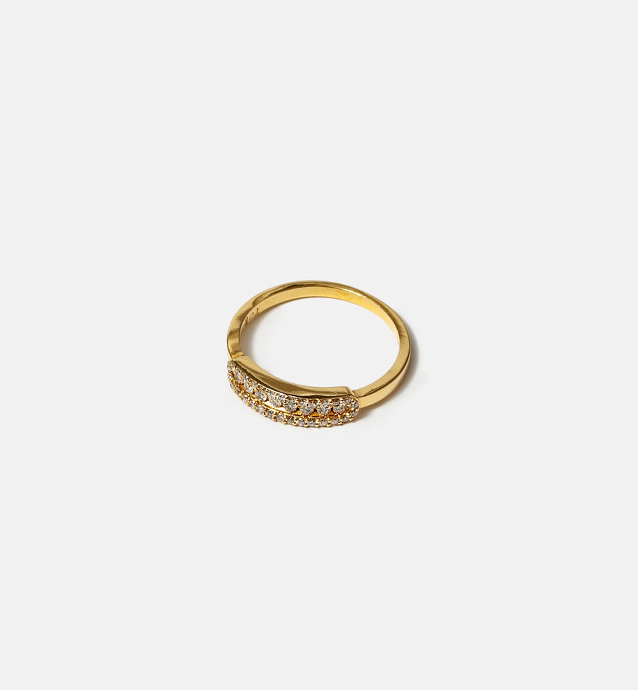 Cadine diamond 14kt solid gold ring