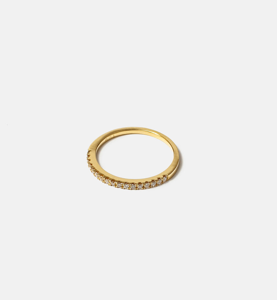 Cadine diamond semi-eternity ring in 14kt solid gold