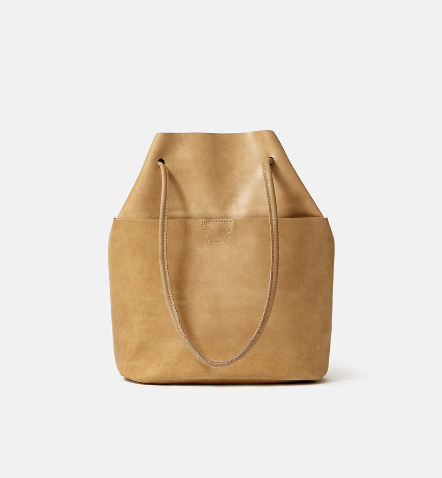 Cadine genuine leather bucket bag