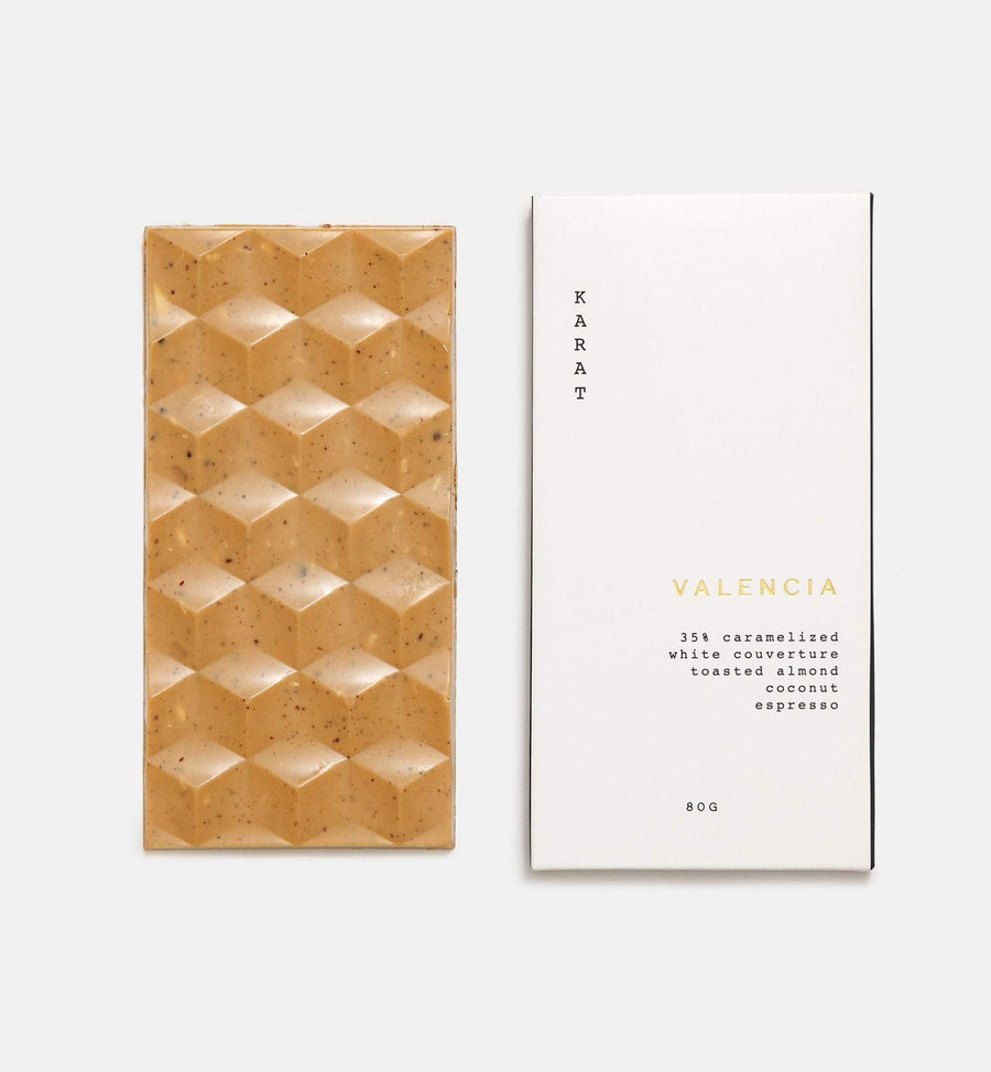 Karat Valencia caramelized white chocolate bar