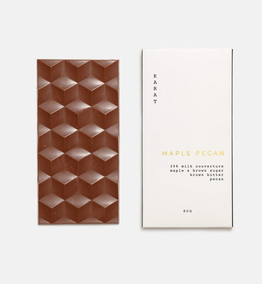 Maple pecan milk chocolate bar
