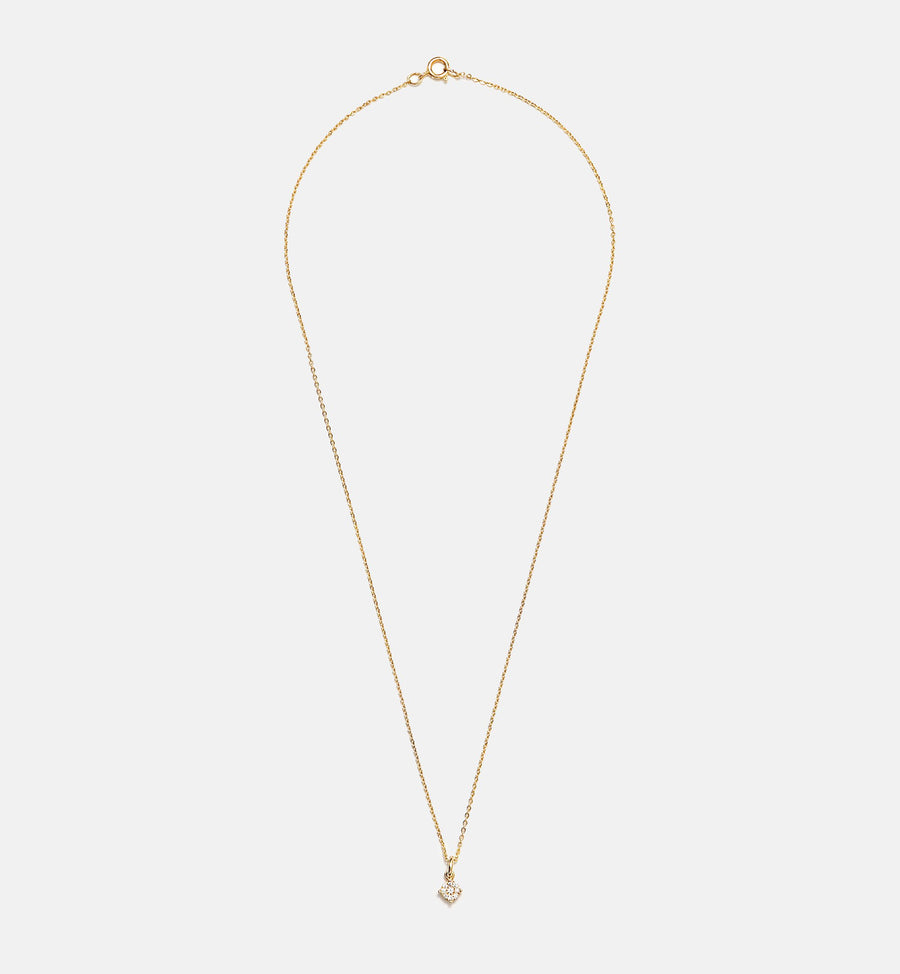 Cadine diamond cluster 14kt solid gold pendant necklace