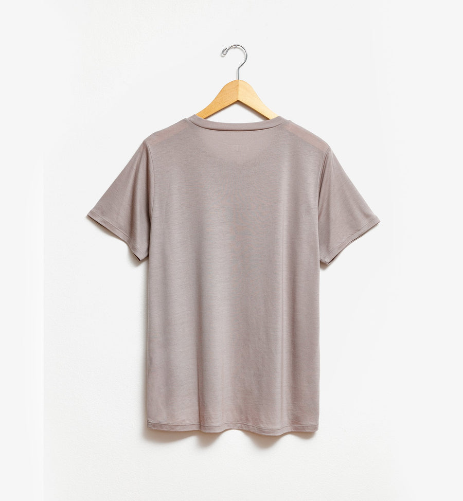 Taupe colour t-shirt by Tru.