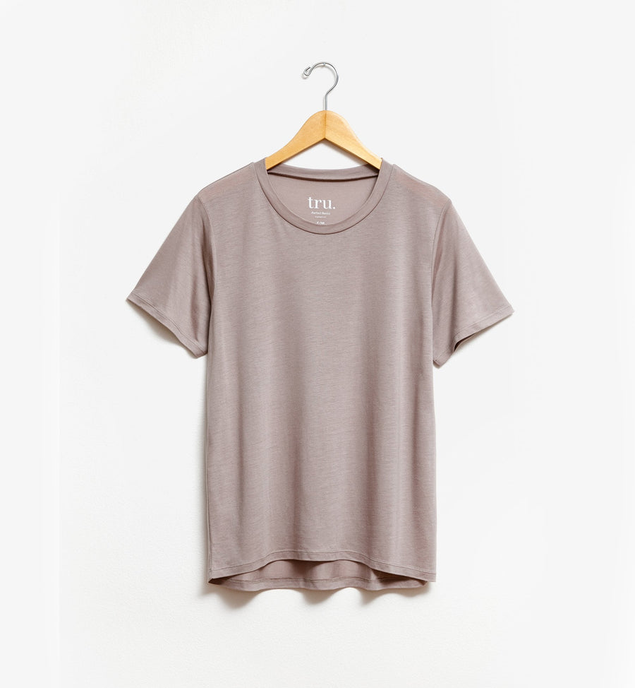 Taupe relaxed fit t-shirt