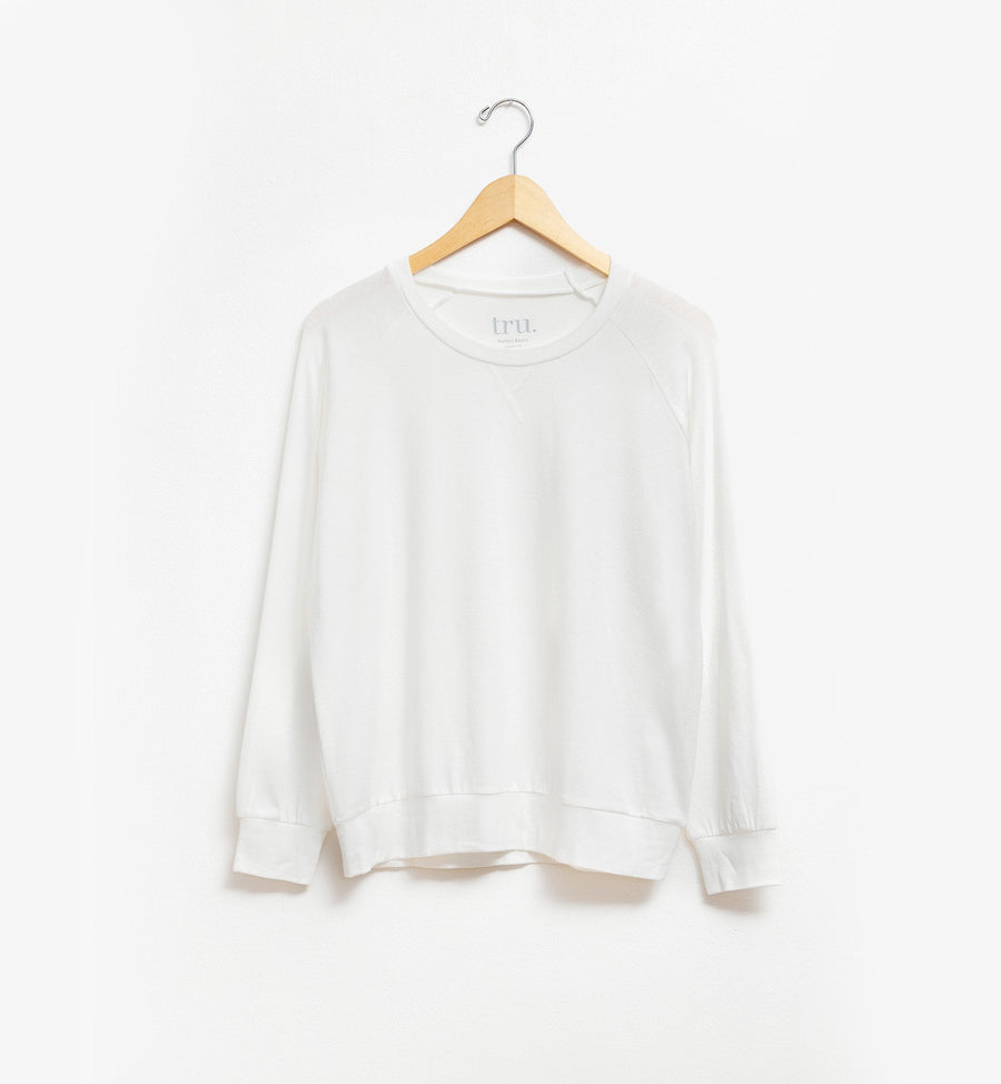Off-white lightweight raglan sweatshirt