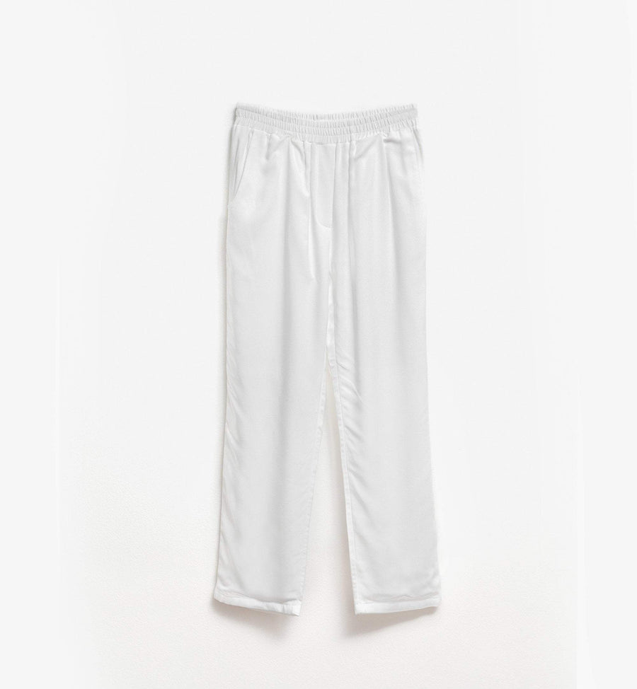 White pull on pants