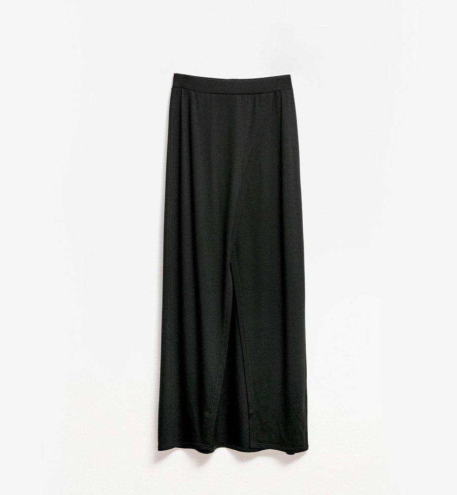 Cadine black maxi skirt with front slit