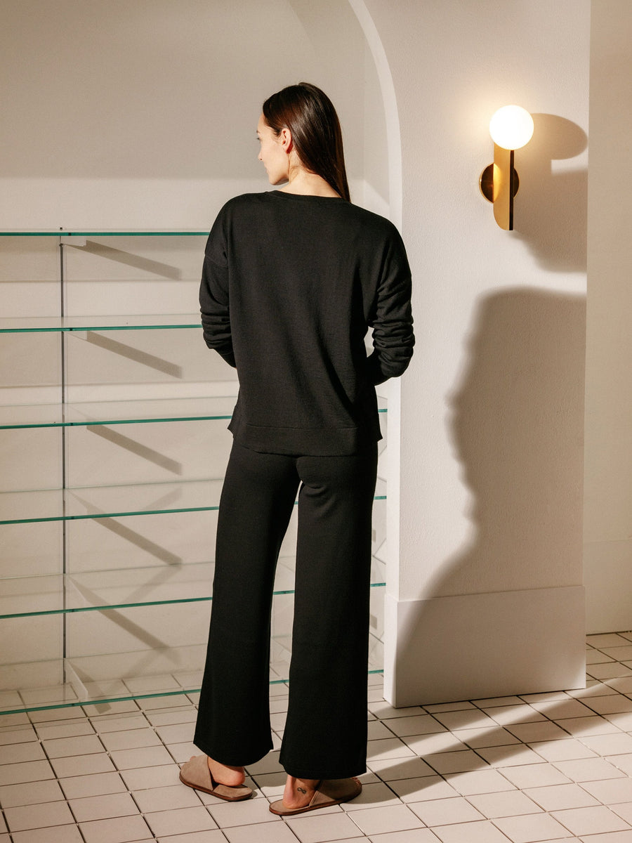 Pillar Knit Pant - Black