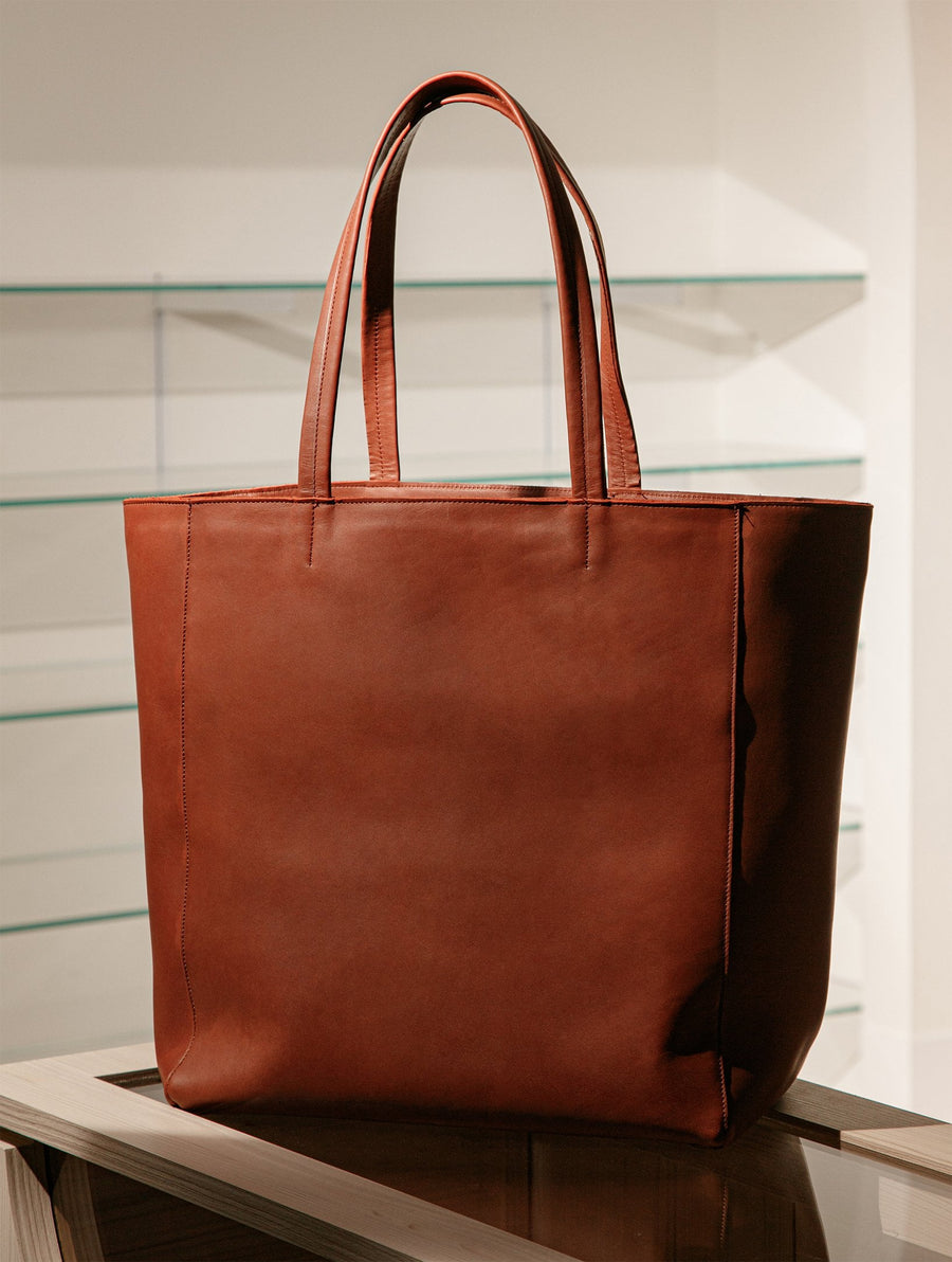 The Classic Bag - Burgundy Leather