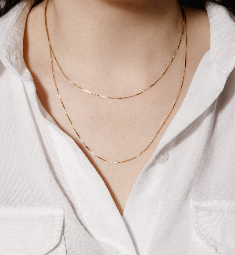 Boxwood Necklace - 14kt Solid Gold