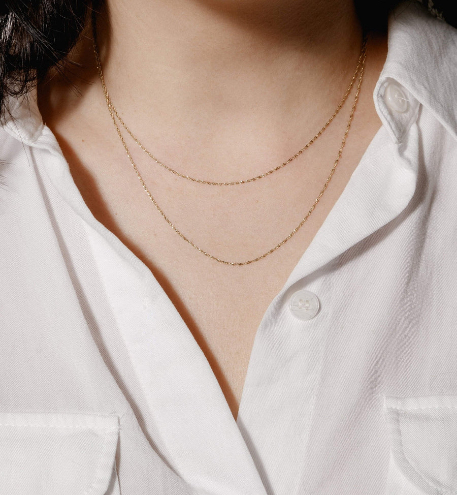 Crisantha Necklace Chain - 14kt Solid Gold