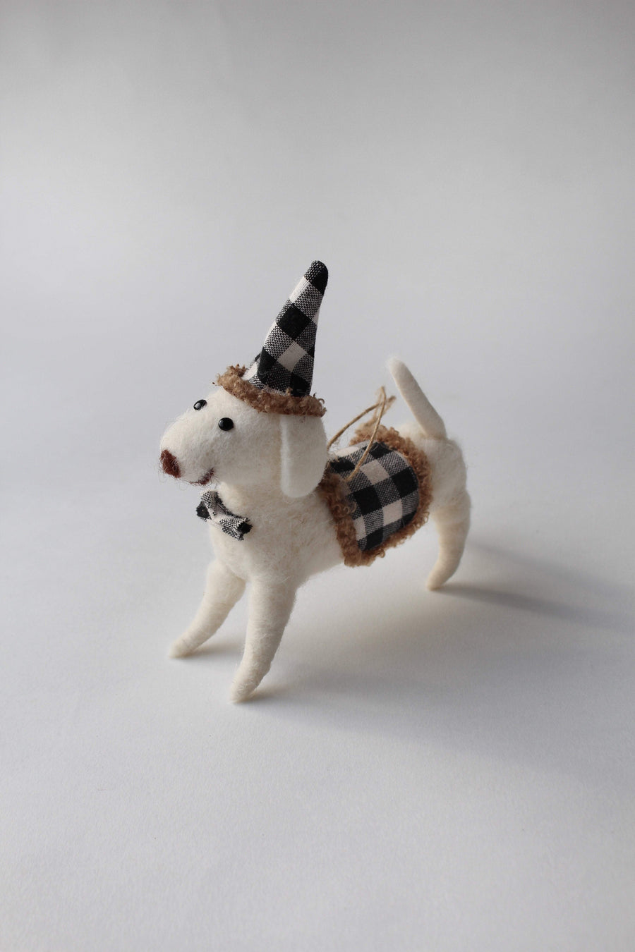 Wool Festive Dog Ornament