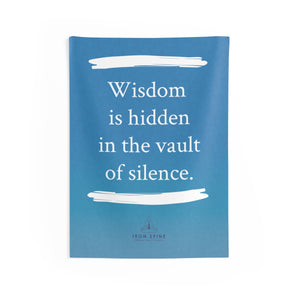 """Wisdom  is hidden in the vault of silence."""