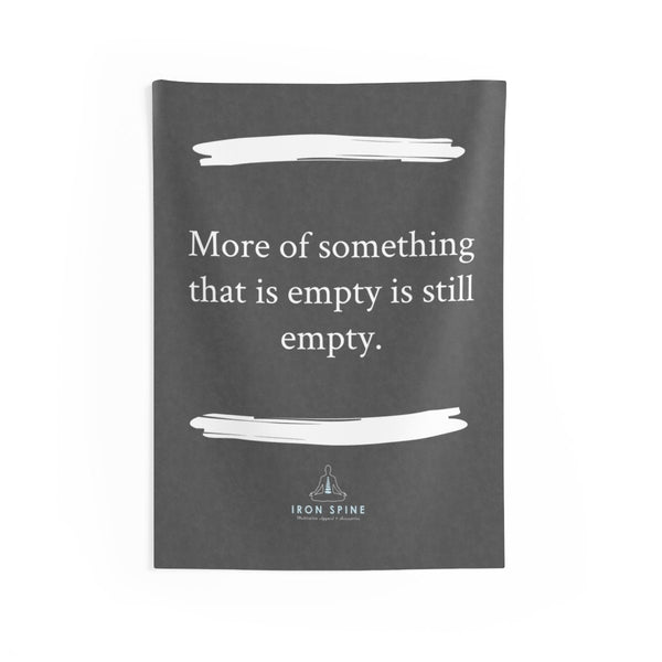"""More of something that is empty is still empty."""