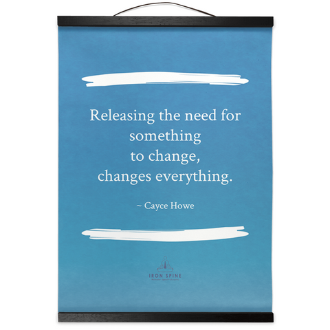 Releasing the need | Hanging Canvas Meditation Poetry