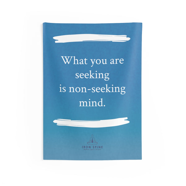 """What you are seeking is non-seeking mind."""