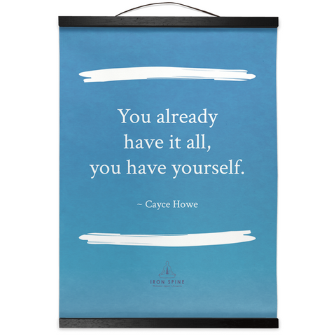 You already have it all | Hanging Canvas Meditation Poetry