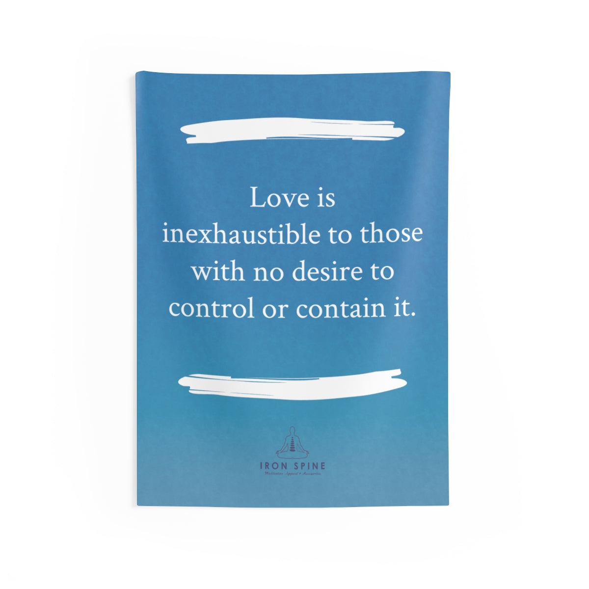 """Love is  inexhaustible to those with no desire to control or contain it."""