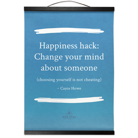 Happiness hack: Hanging Canvas Meditation Poetry