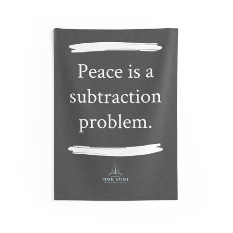 """Peace is a subtraction problem."""
