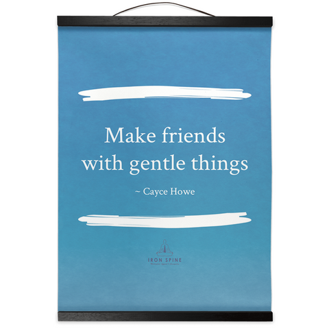 Make Friends | Hanging Canvas Meditation Poetry