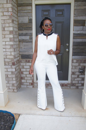 Ivory Bell Bottom Pants