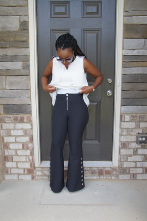 Black Bell Bottom Pant