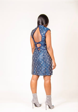 Sandy Blue Shimmer Dress