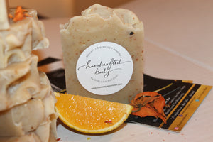 Handcrafted Herbal Safflower & Orange Lily Soap
