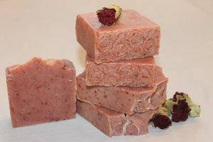 Handcrafted Herbal Cranberry & Carnation Flower Soap