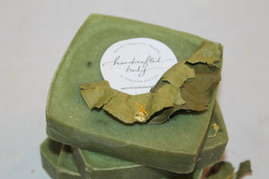Handcrafted Herbal Mean Green Soap (Large Bar)