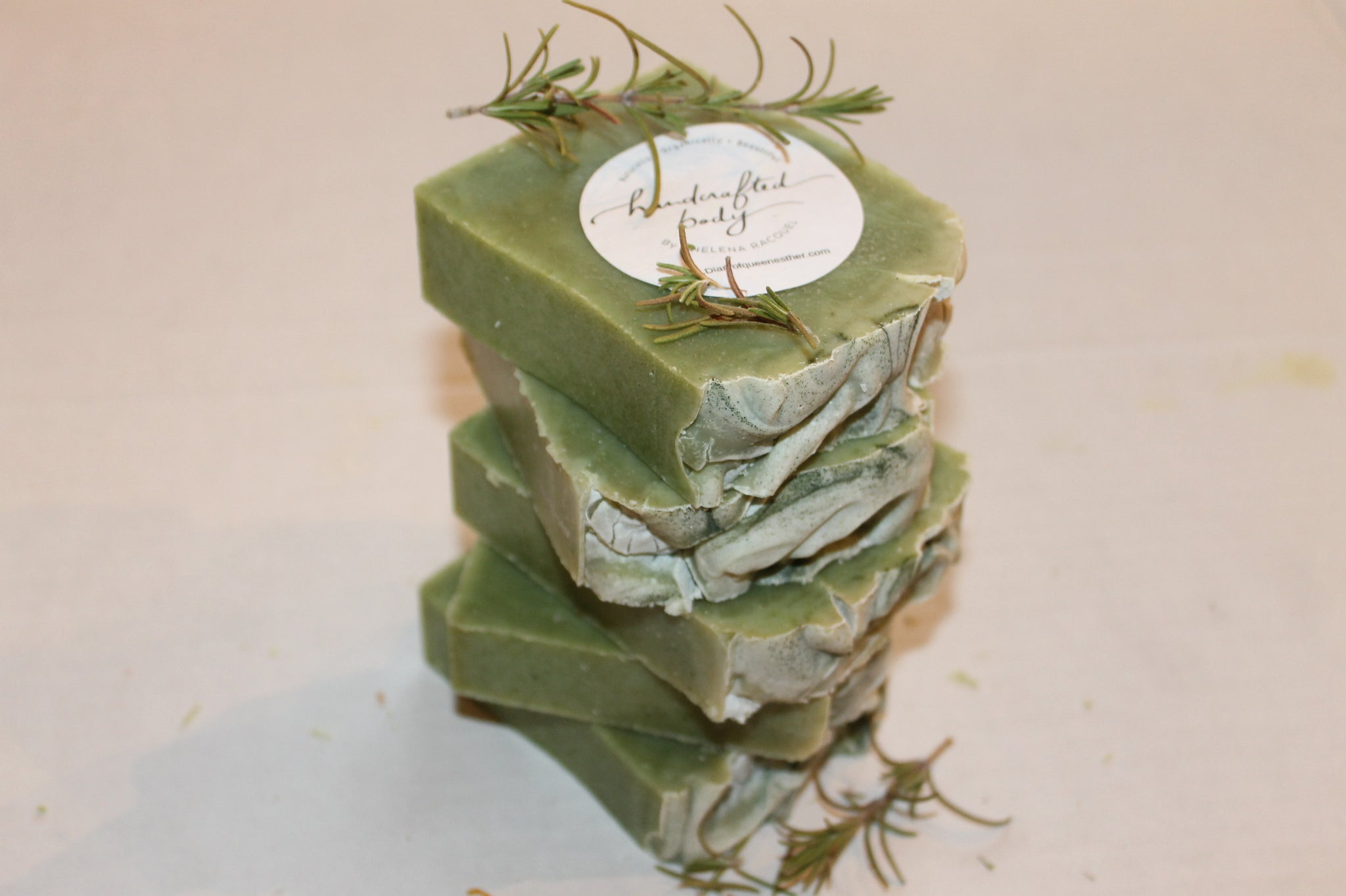Handcrafted Herbal Rosemary & Spearmint Soap