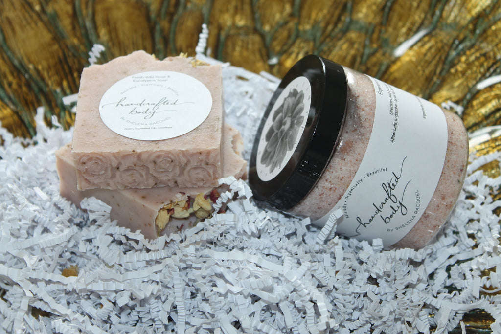 Handcrafted Herbal Wild Rose & Eucalyptus Soap Bundle