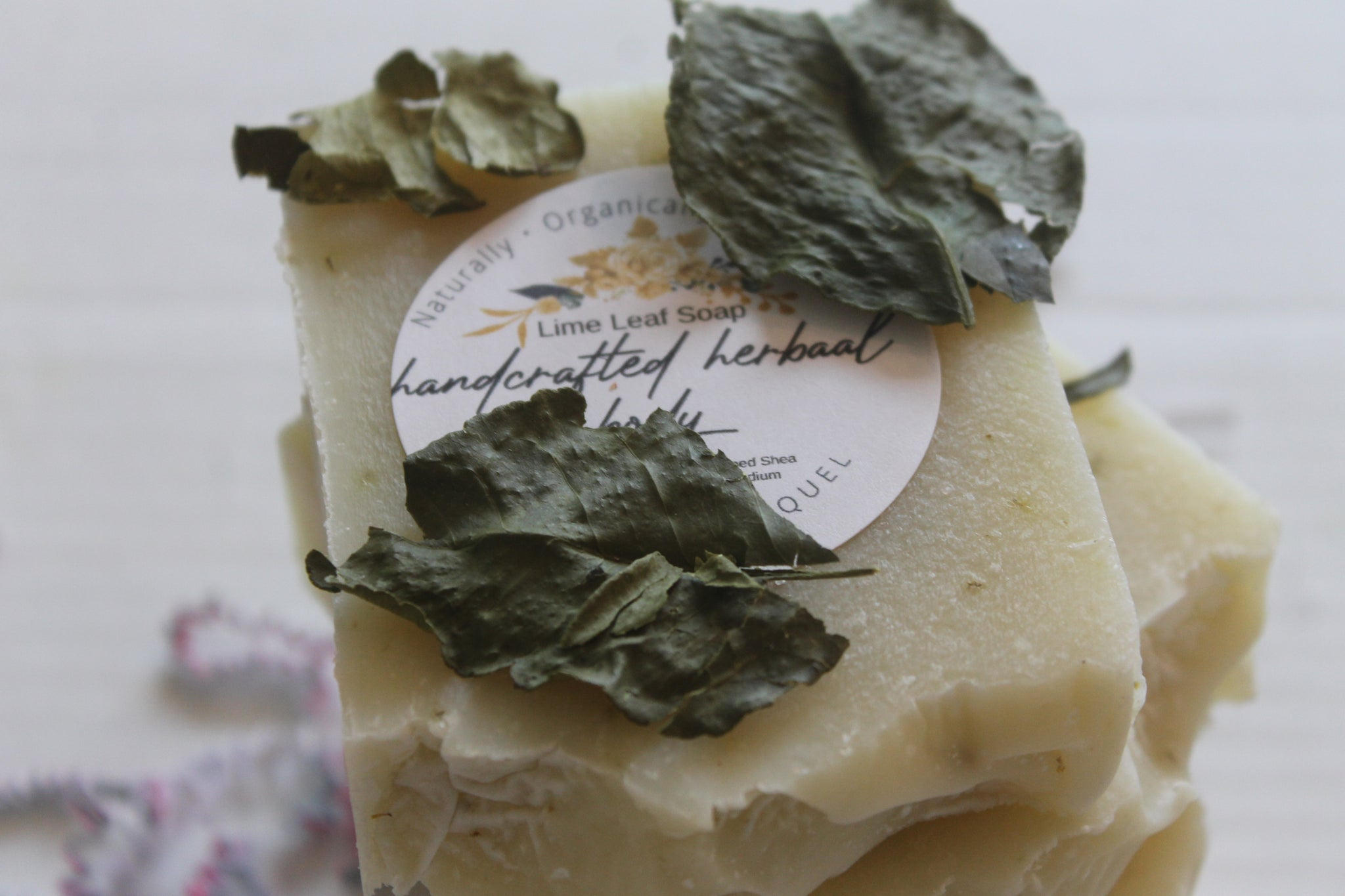 Handcrafted Herbal Lime Leaf Soap