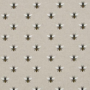 NEW! Linen-look bee fabric with champagne liner