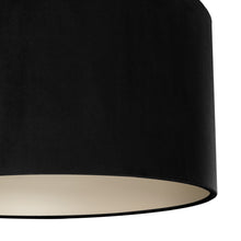 Load image into Gallery viewer, Jet black velvet with champagne liner lampshade