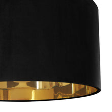 Load image into Gallery viewer, Jet black velvet with mirror gold liner