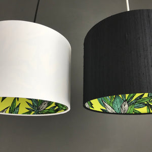 BEST SELLING: Silk with citrus leaf lampshade