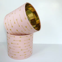 Load image into Gallery viewer, Blush arrow with mirror gold liner lampshade