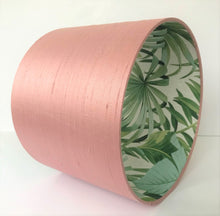Load image into Gallery viewer, BEST SELLING: Blush silk with green leaf lampshade