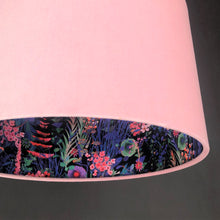 Load image into Gallery viewer, Blush velvet with Liberty of London midnight floral cotton liner