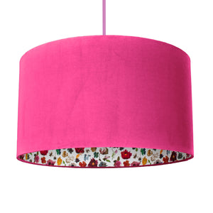 NEW: Liberty of London Floral Edit with hot pink velvet lampshade