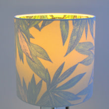 Load image into Gallery viewer, Crisp white cotton with citrus leaf lampshade