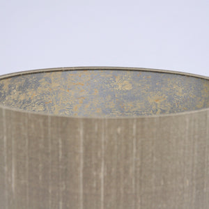 Almond silk with Cole & Son 'Salvage' wallpaper lampshade