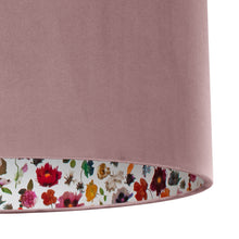 Load image into Gallery viewer, NEW: Liberty of London Floral Edit with dusty pink velvet lampshade