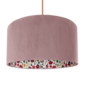 NEW: Liberty of London Floral Edit with dusty pink velvet lampshade