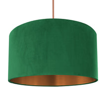 Load image into Gallery viewer, NEW! Emerald green velvet with brushed copper liner
